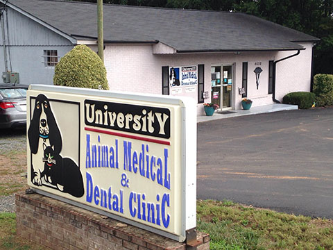 University Animal Medical and Dental Clinic Outside View in Harrisburg, NC near UNCC